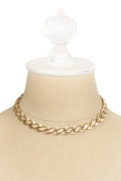 60's__Trifari__Braided Necklace
