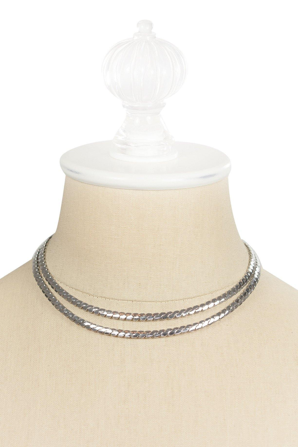 50's__Coro__Edgy Silver Necklace