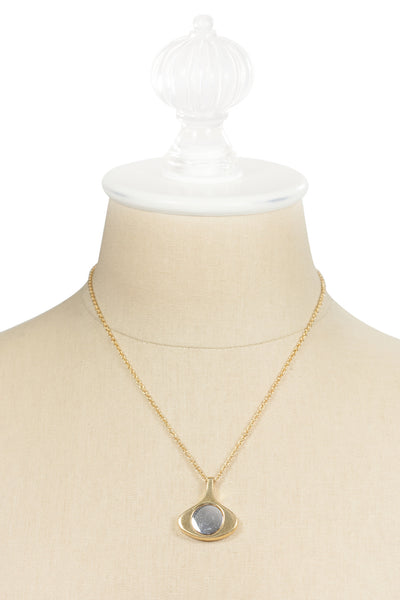 80's__Avon__Dainty Mixed Metals Necklace