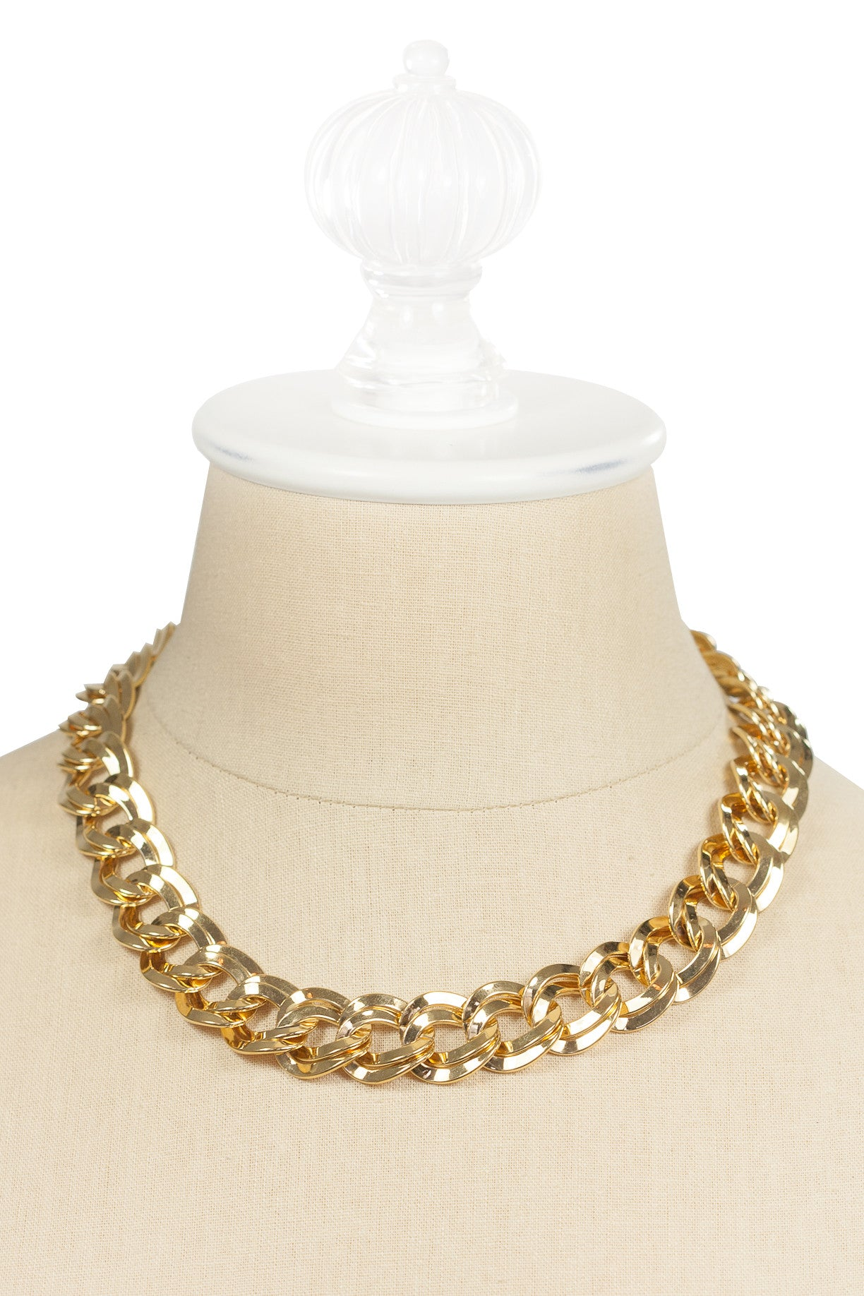 80's__Monet__Chunky Double Link Necklace