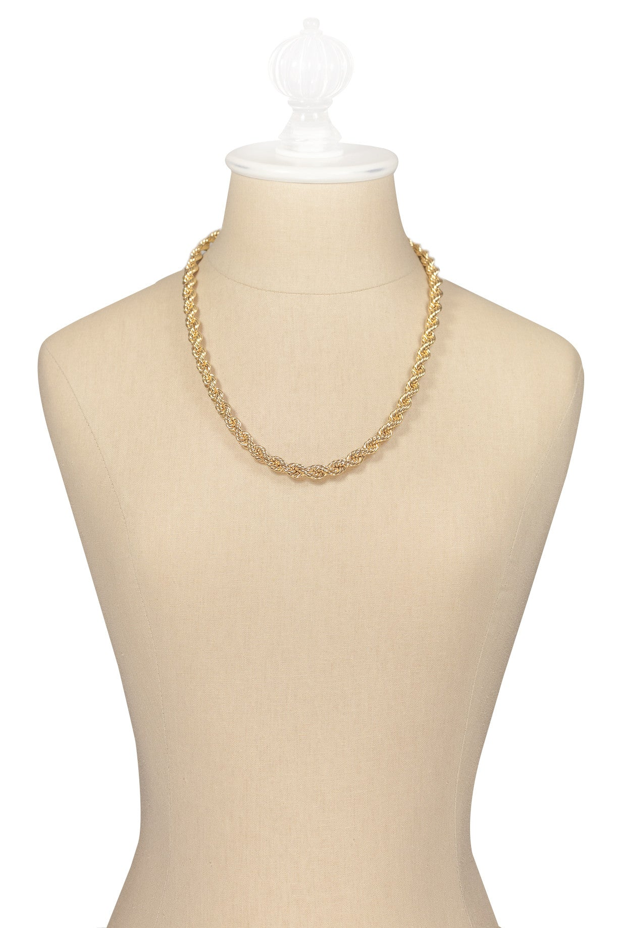 70's__Napier__Chunky Rope Chain Necklace