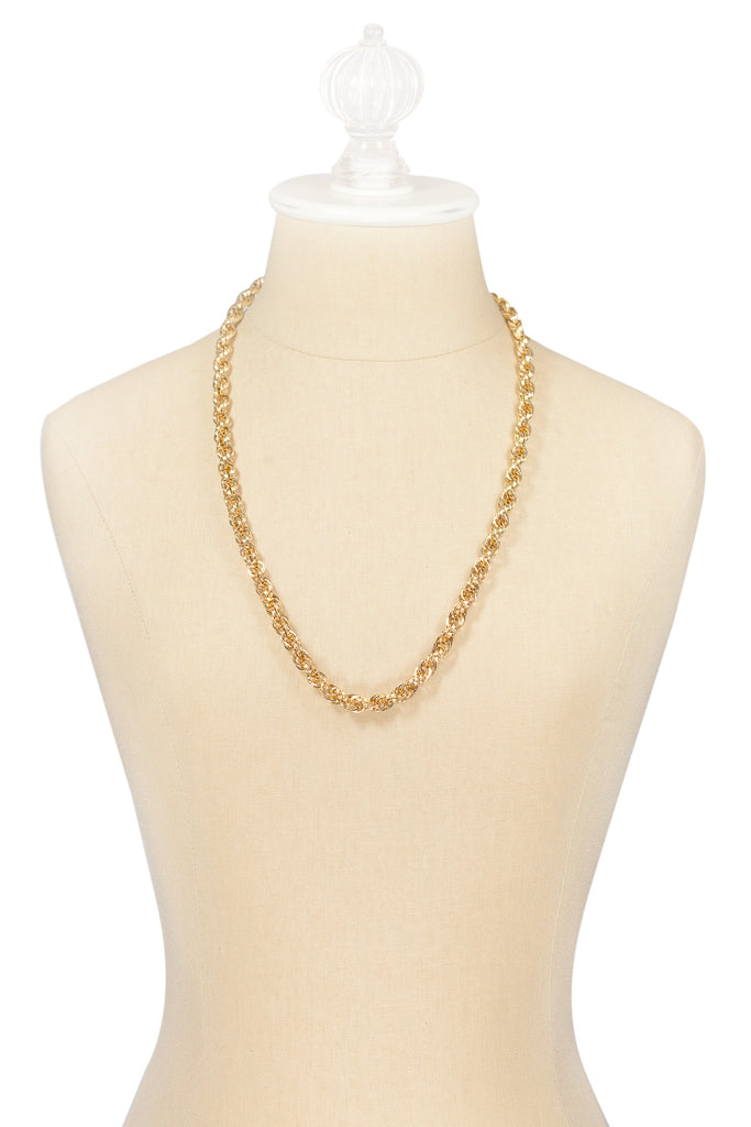 70's__Monet__Classic Rope Chain Necklace