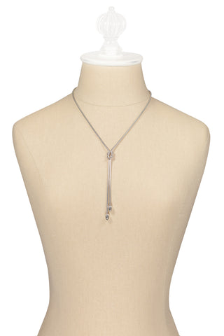 70's__Emmons__Silver Bolo Necklace