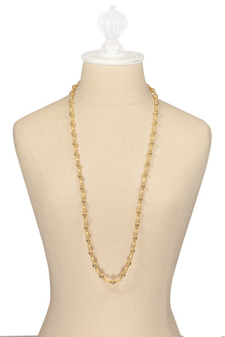 80's__Anne Klein__Classic Gold Ball Necklace