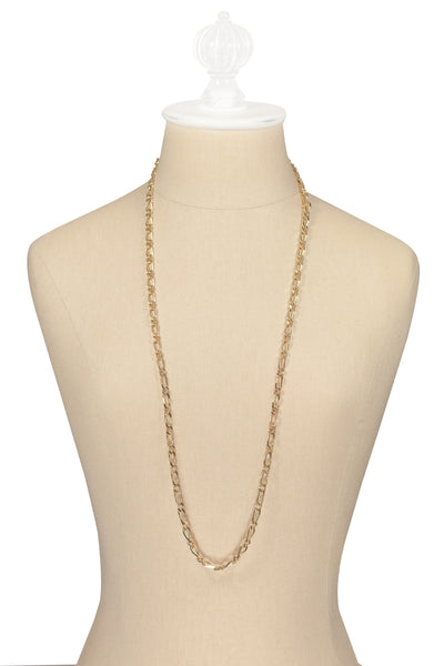 70's__Monet__Long Curb Chain Necklace