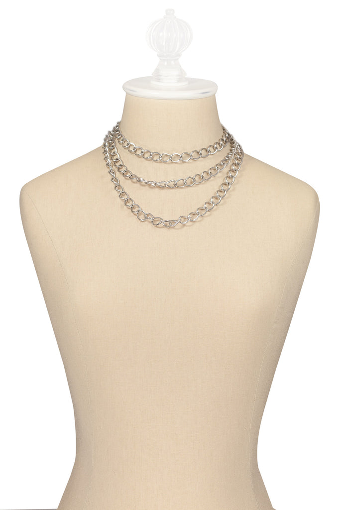 60's__Sarah Coventry__3n1 Silver Necklace