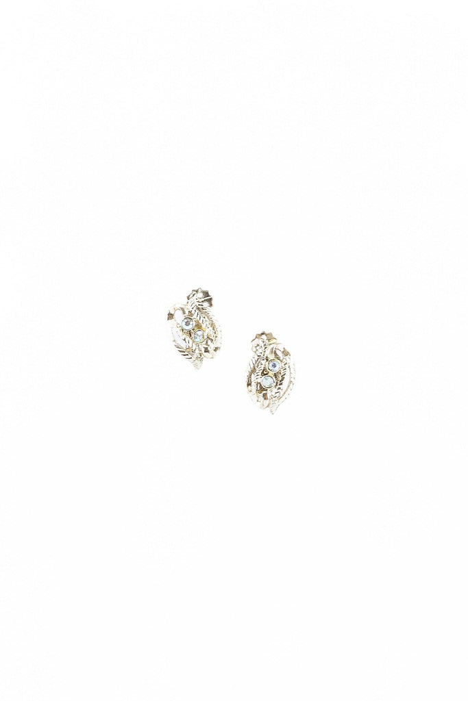 40's__Delsa__Mini Rhinestone Earrings