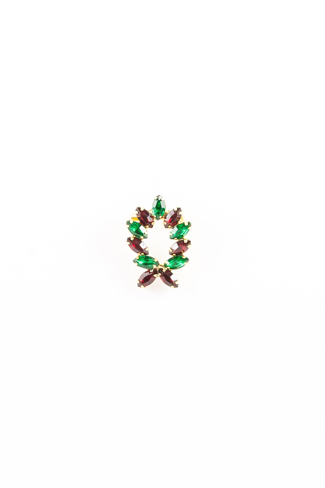 50's__Vintage__Jeweled Wreath Brooch