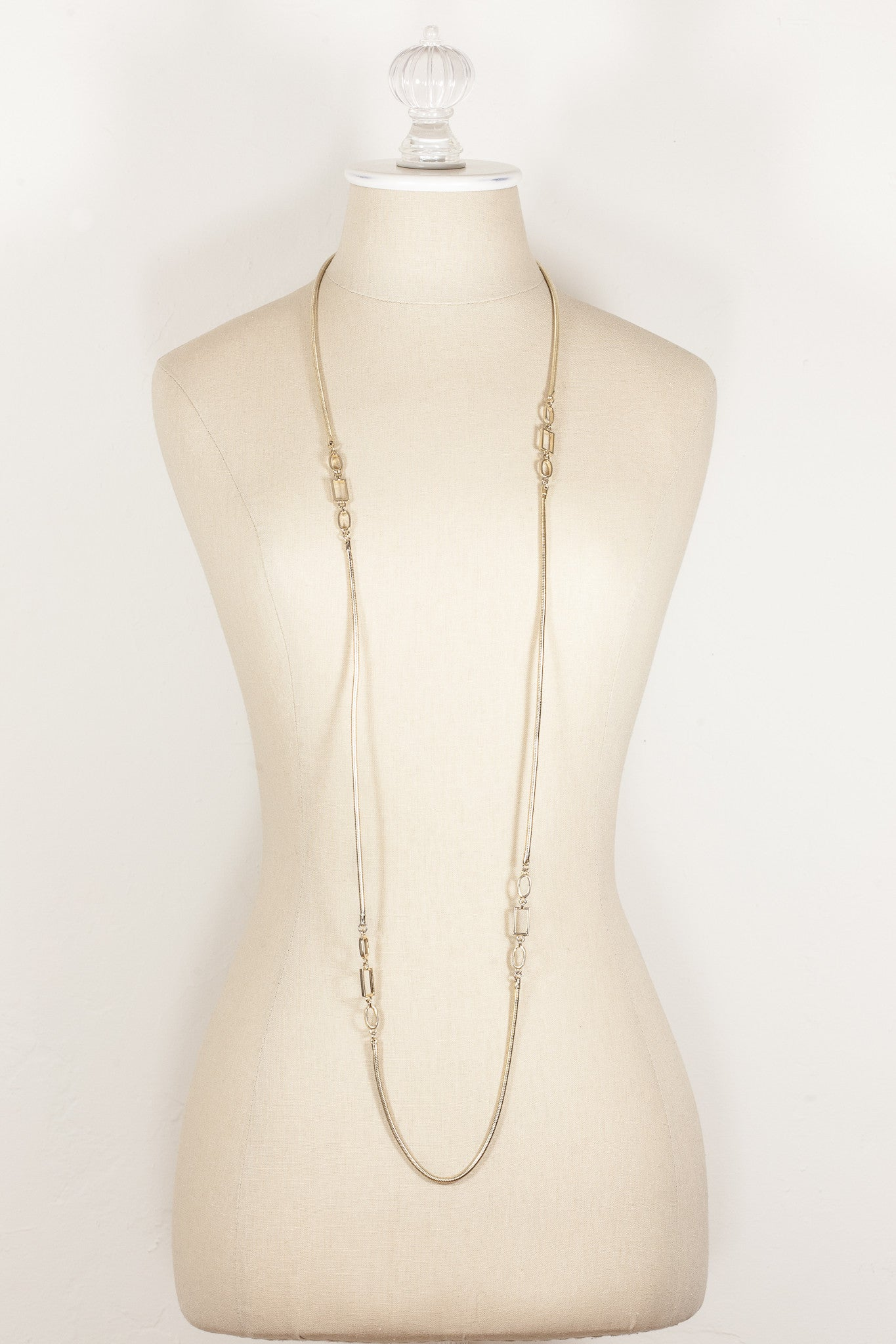 70's__Vintage__Extra Long Snake Chain Necklace