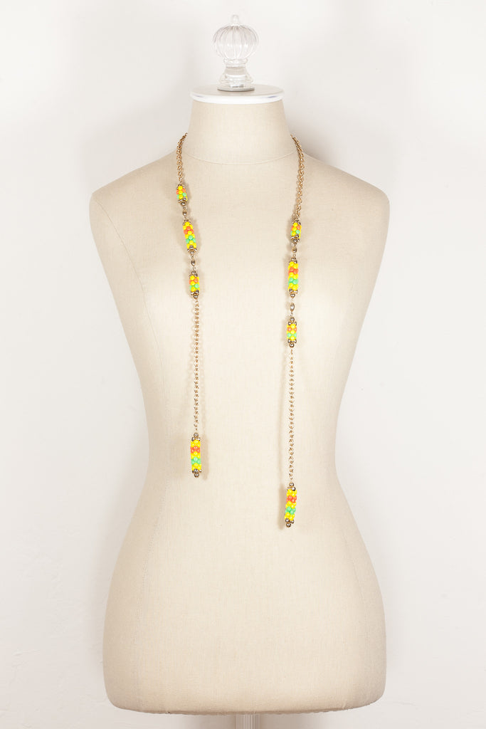 70's__Sarah Coventry__Beaded Drap Necklace