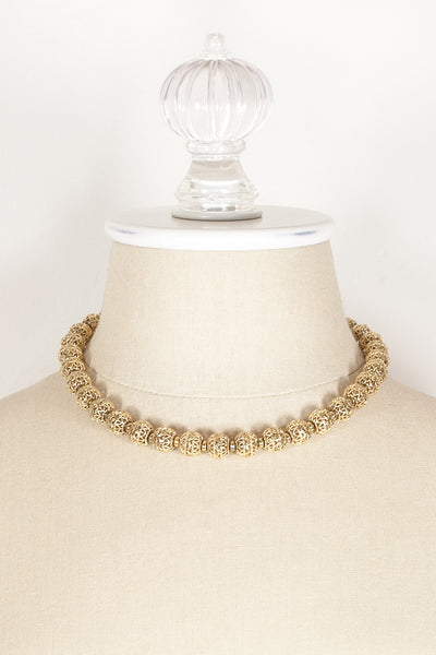 60's__Monet__Lace Beaded Necklace