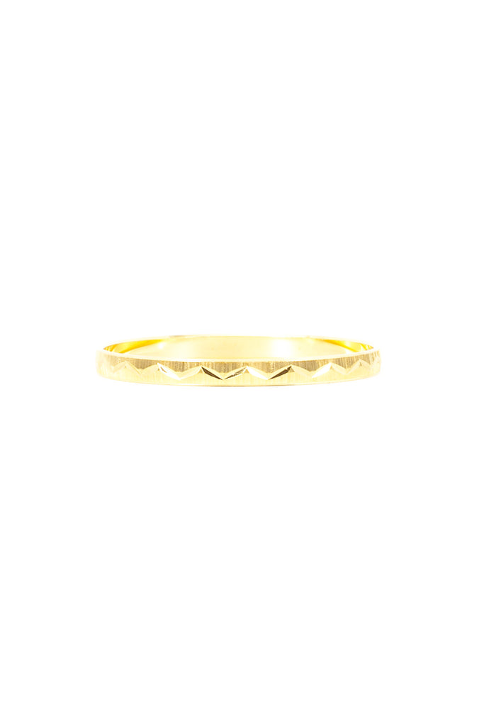 70's__Trifari__Chevron Etched Bangle