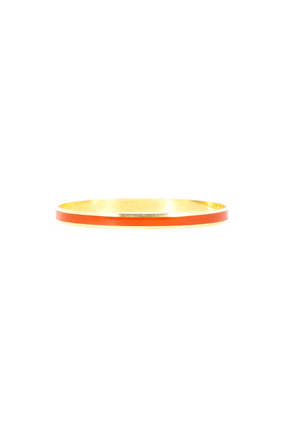 70's__Vintage__Skinny Orange & Gold Bangle