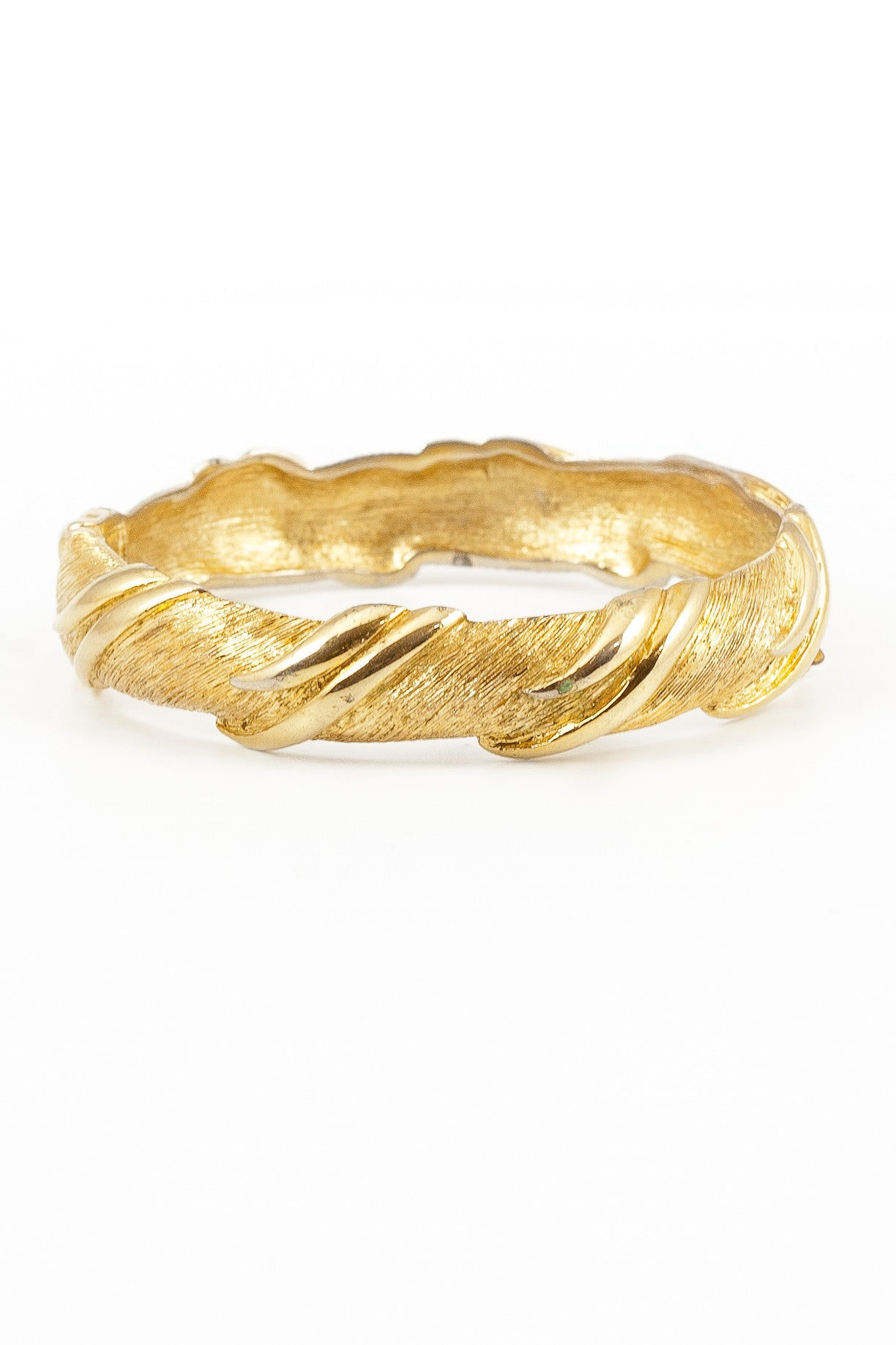 60's__Monet__Etched Flair Bangle