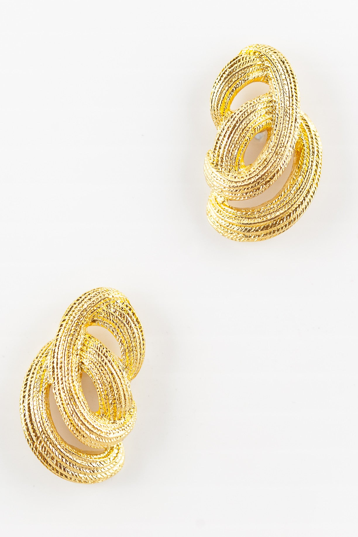80's__Monet__Etched Swirl Wrap Earrings