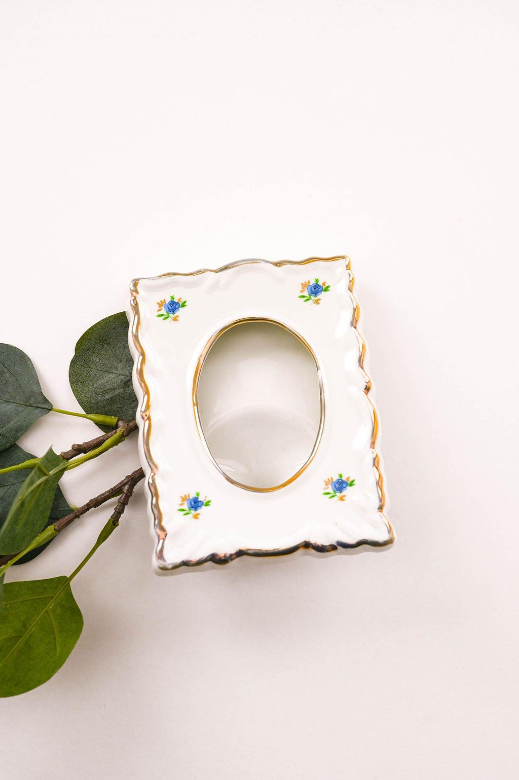 Blue Floral Ceramic Frame