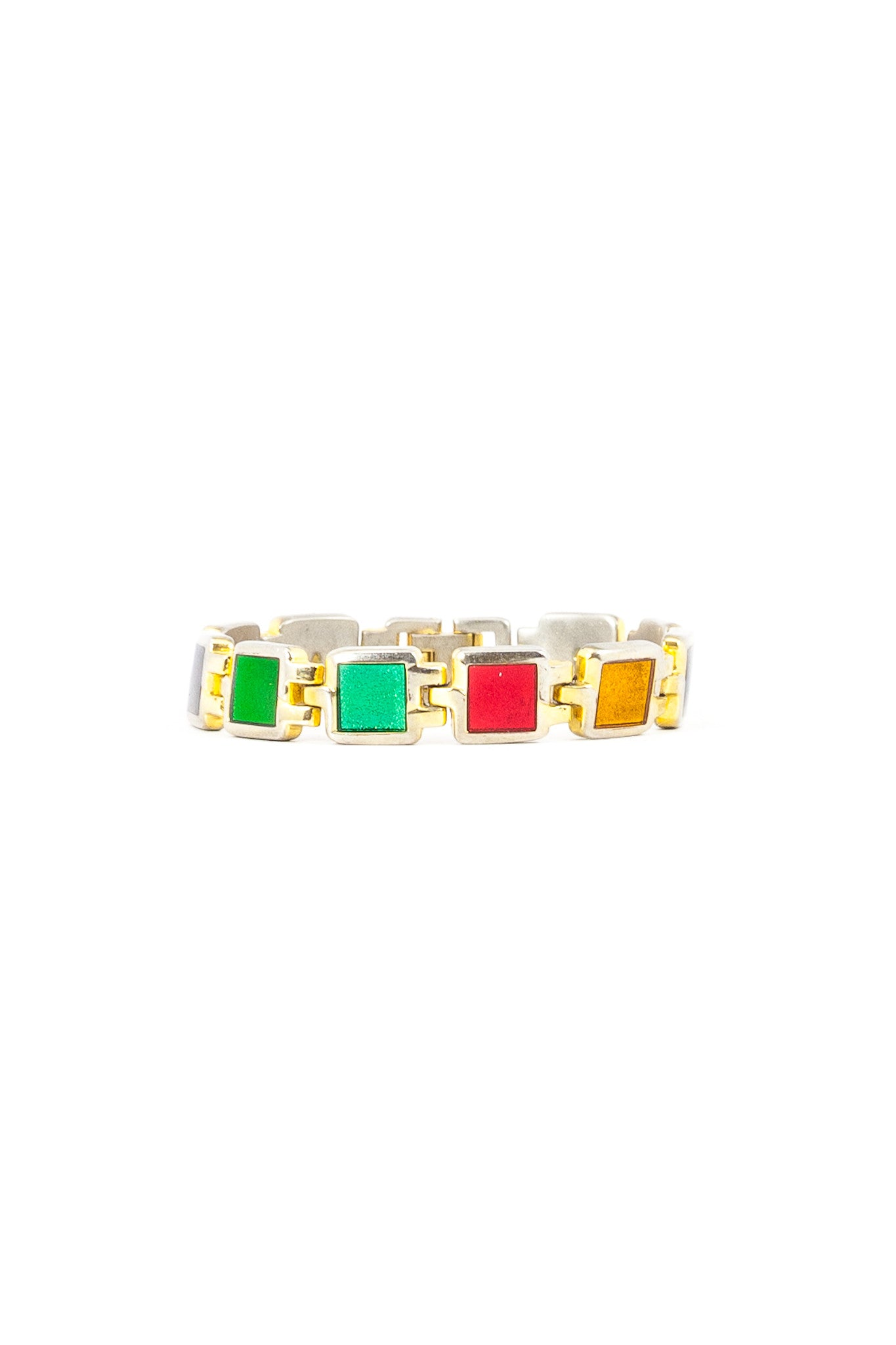 80's__Vintage__Colored Jewel Link Bracelet