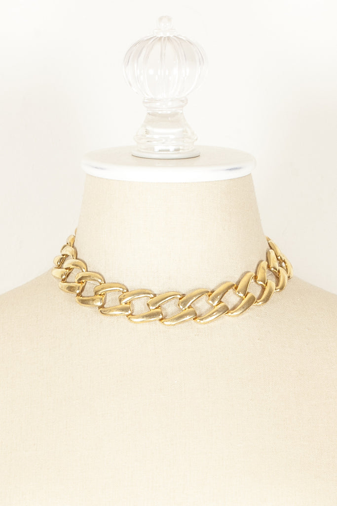 70's__Napier__Square Link Necklace