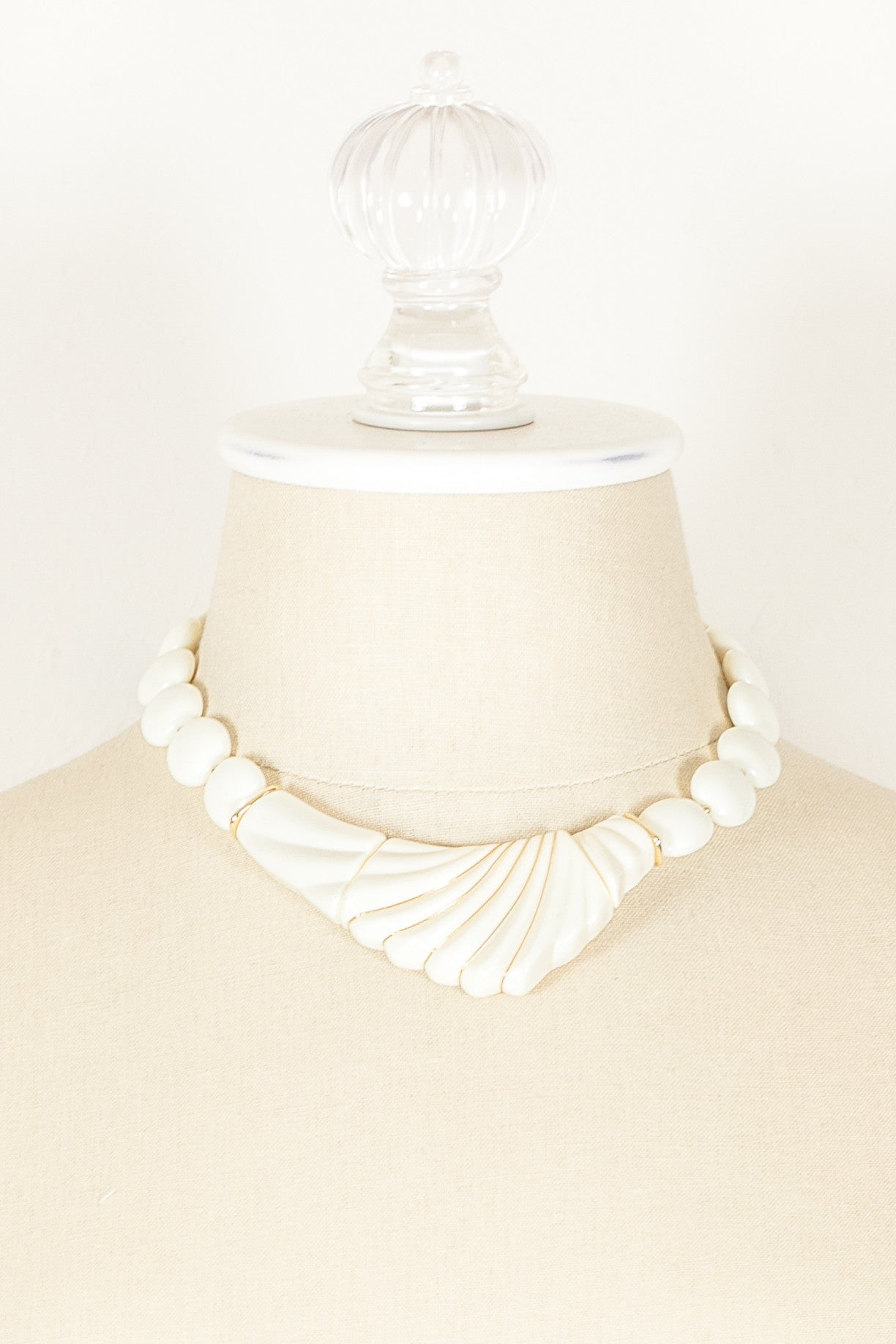 70's__Trifari__Textured V Necklace