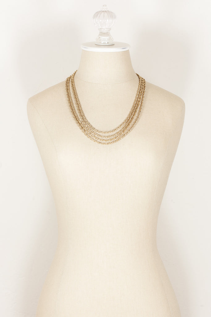 70's__Monet__Multi Rope Chain Necklace