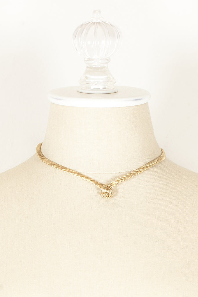 60's__Emmons__Mesh Knot Necklace