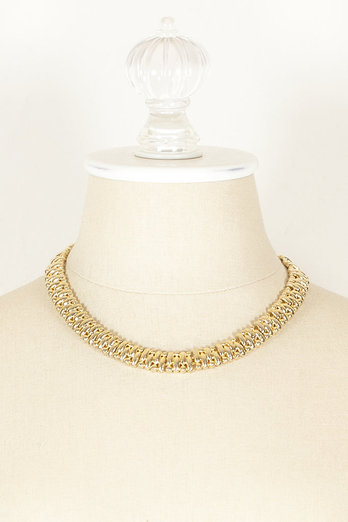70's__Trifari__Classic Weave Necklace