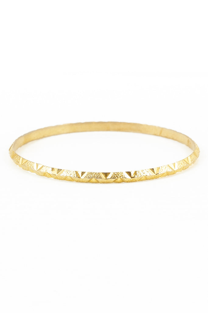 70's__Vintage__Skinny Etched Triangle Bangle