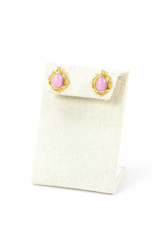 80's__Vintage__Dainty Pink Studs