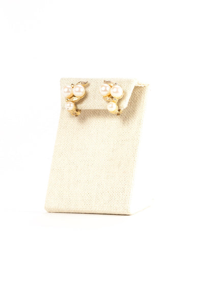 50's__Vintage__Pearl Ear Cuff Clips