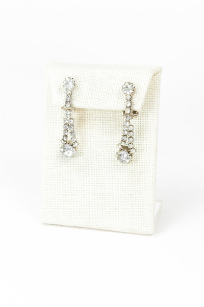 60's__Vintage__Rhinestone Drop Earrings
