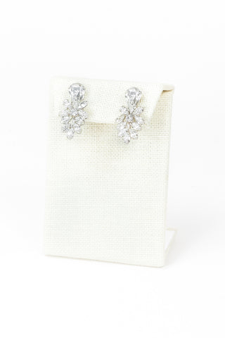 50's__Vendome__Cluster Rhinestone Earrings