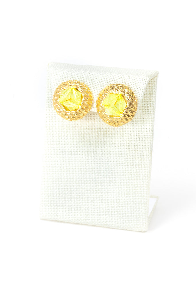 60's__Vintage__Lemon Bead Clips