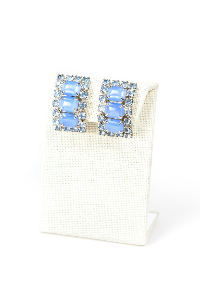60's__Vintage__Jeweled Cuff Earrings