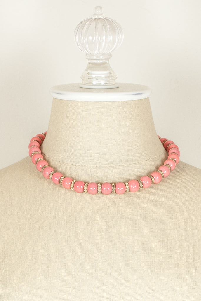 50's__Napier__Coral Bead Necklace