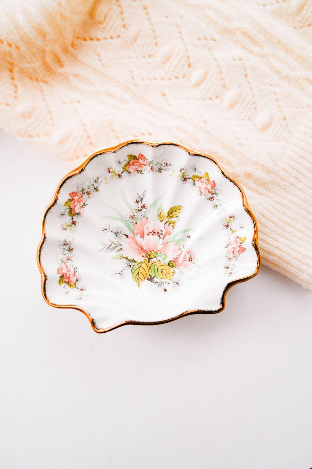 Peachy Shell Trinket Tray