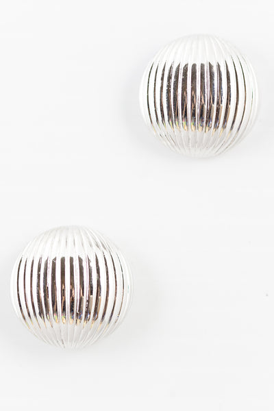 70's__Monet__Striped Circle Earrings