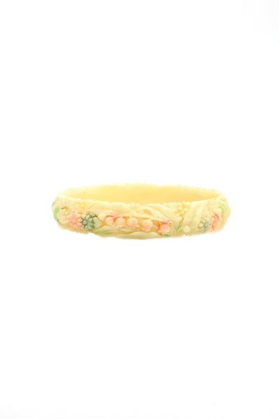 50's__Vintage__Plastic Florals Bangle