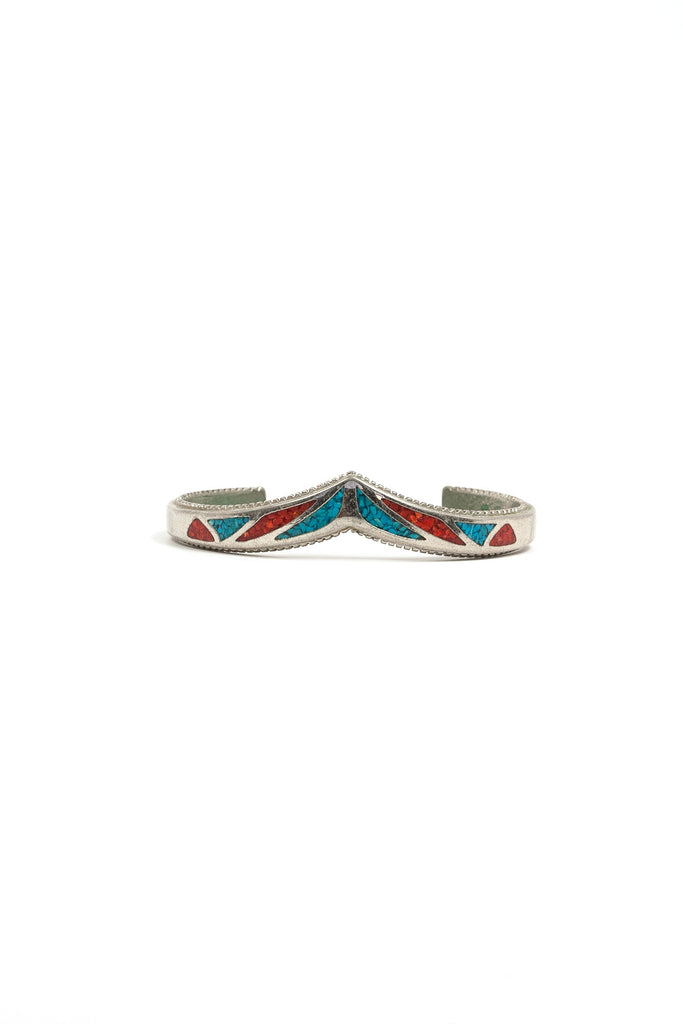 60's__Vintage__Turquoise V Cuff