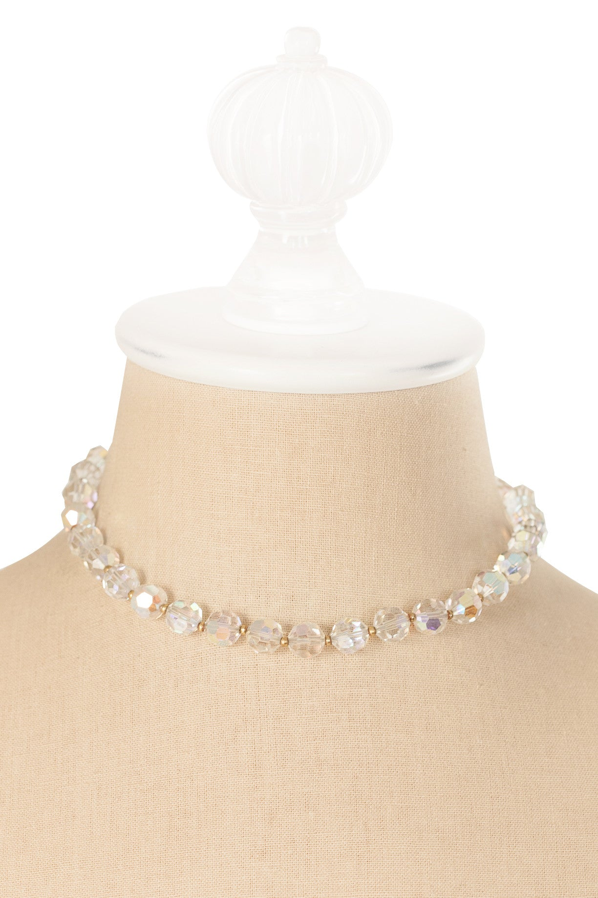 50's__Lisner__Crystal Beaded Necklace