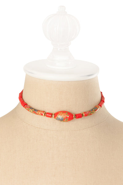 50's__Vintage__Red Choker Necklace