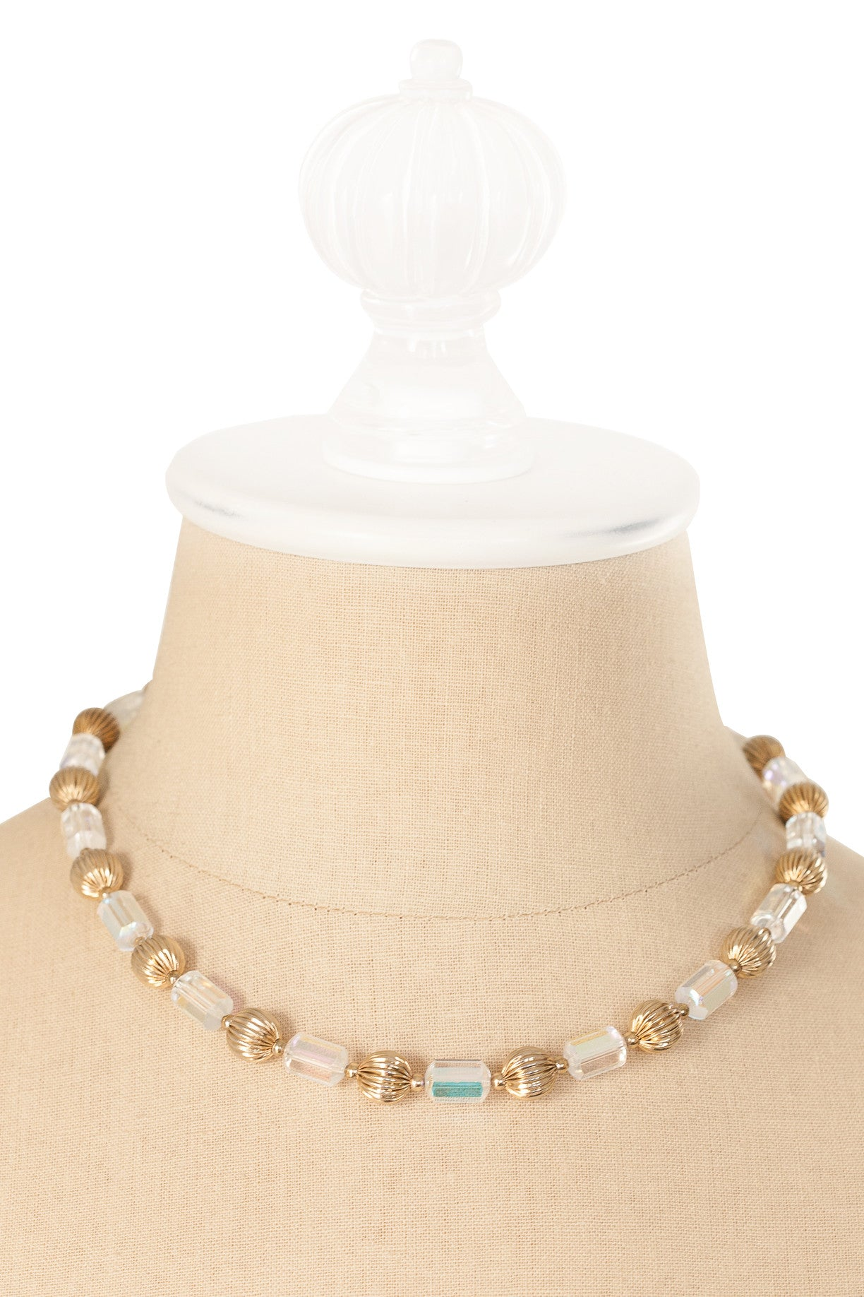50's__Vintage__Crystal and Gold Necklace