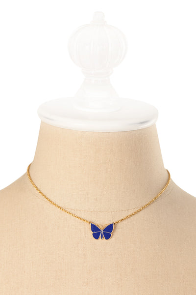 70's__Vintage__Enamel Butterfly Necklace