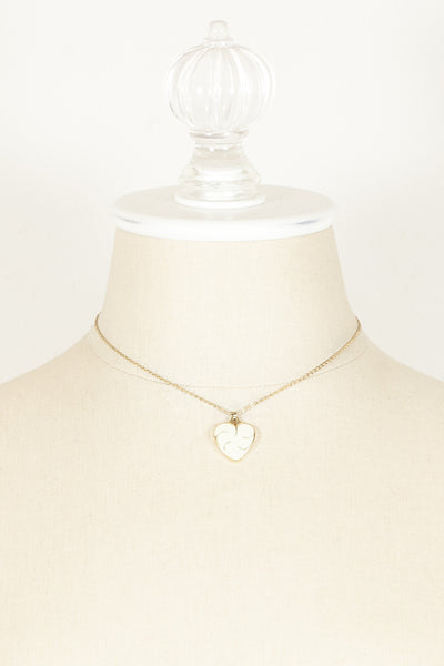 70's__Monet__Dainty Heart Charm Necklace