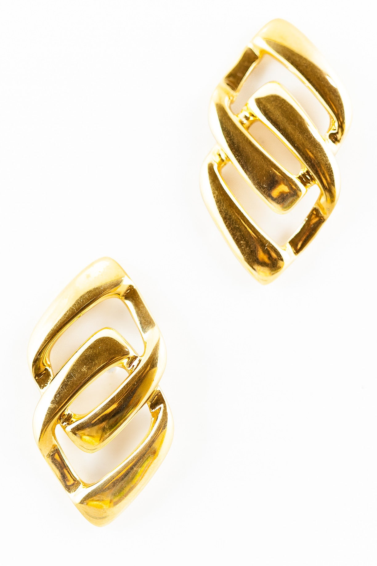 80's__Napier__Edgy Statement Link Earrings