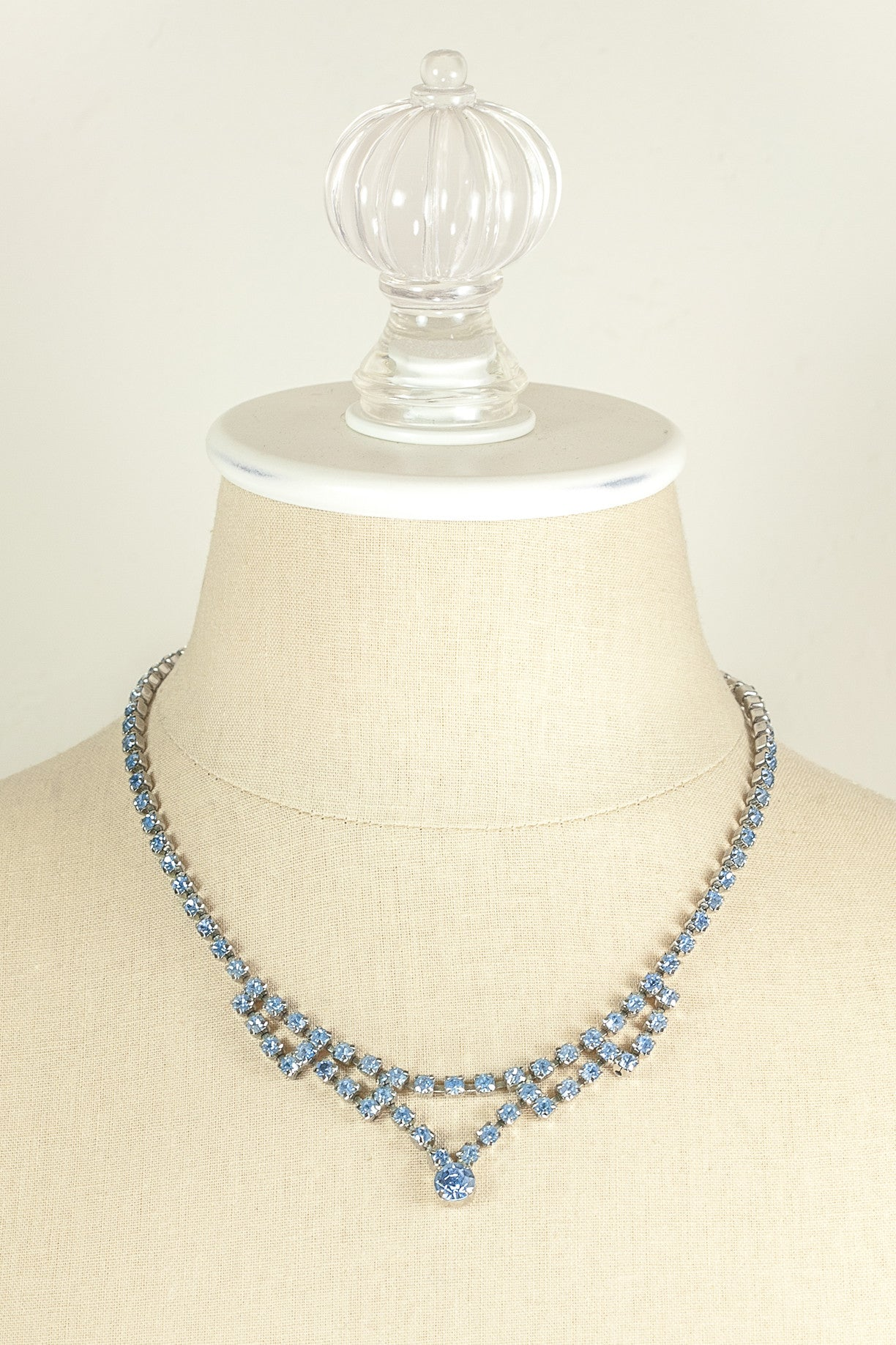 80's__Vintage__Blue Rhinestone Necklace