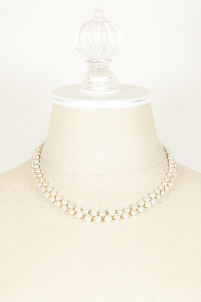 60's__Napier__Double Strand Pearl Necklace
