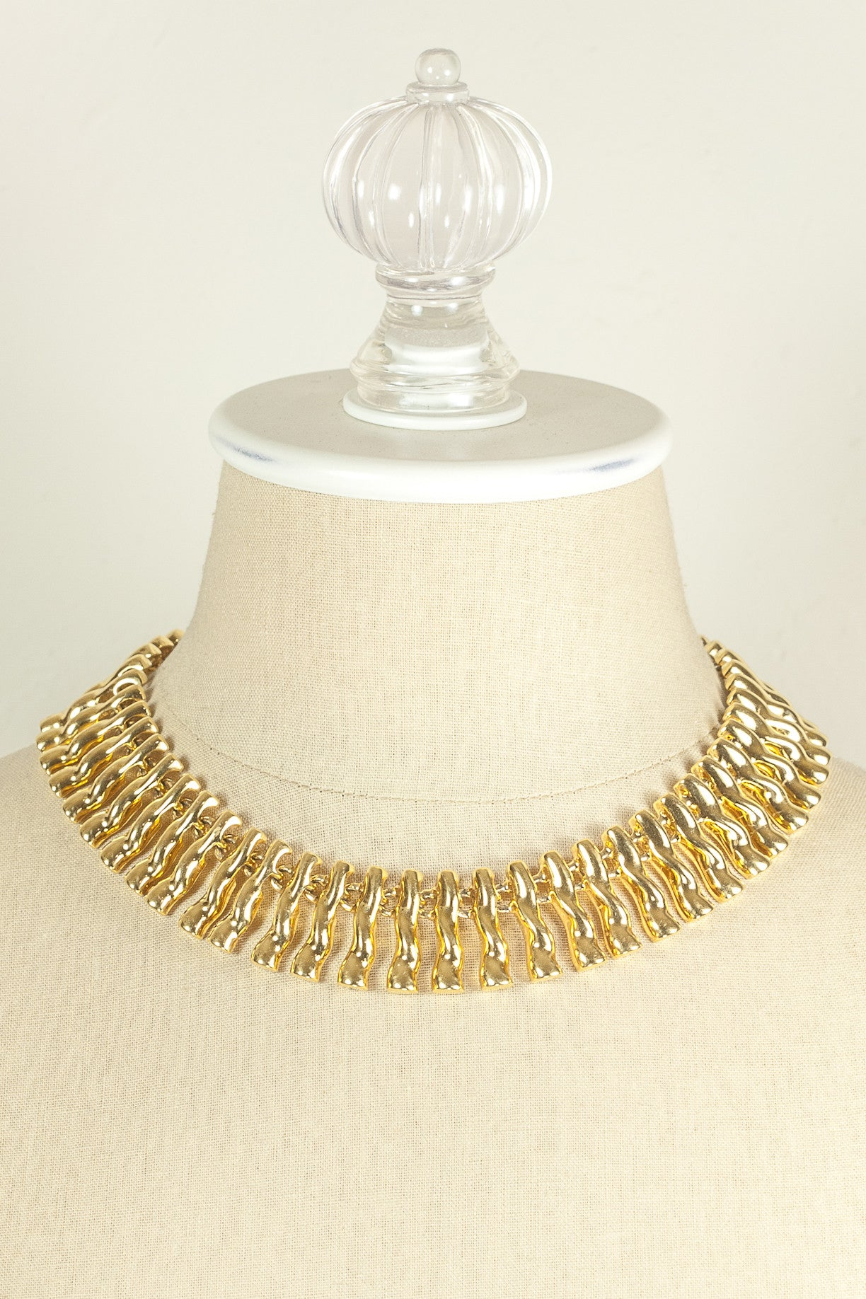 90's__Anne Klein__Fringe Necklace