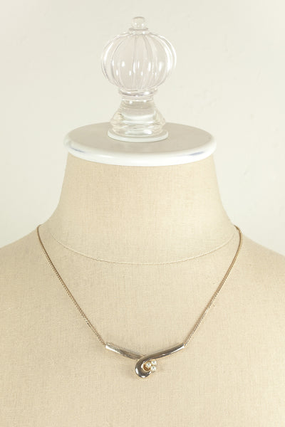 70's__Sarah Coventry__Dainty Swirl Necklace