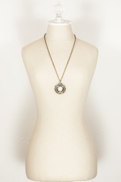 60's__Vintage__Jeweled Pendant Necklace