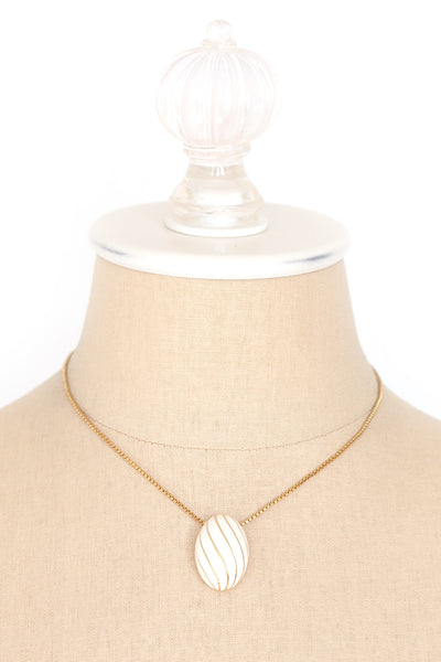 60's__Vintage__Cream Bauble Necklace